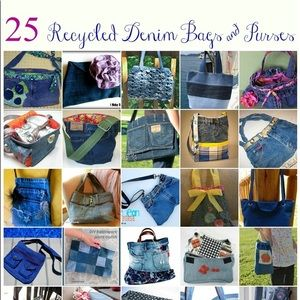 Handbags - Homemade handmade handbags made out of jeans